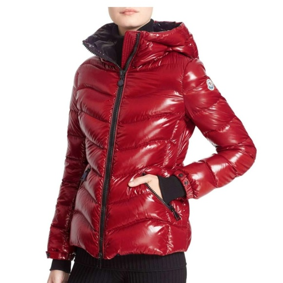 1142759b9d Moncler Jackets & Coats | Anthia Water Resistant Shiny Nylon Hooded ...